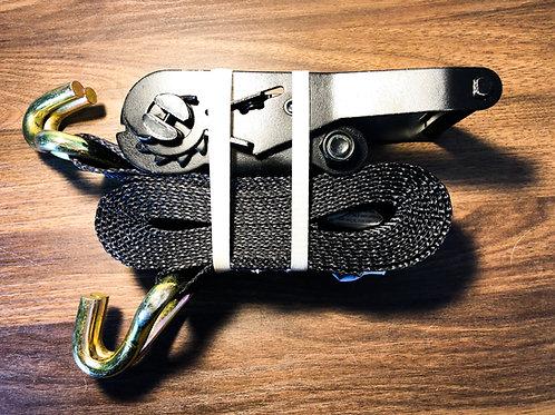 """2"""" X 12FT Car Tie Down w/ Wire Form Hooks"""