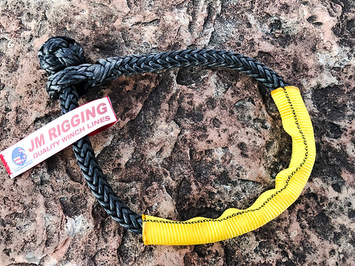 "1/4"" Black Soft Shackle Pure Dyneema SK78 w/Yellow Protective Sleeve"