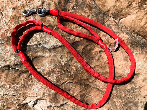 "5/16"" Winch Line Doggie Leash w/ Mid Handle, Red Protective Cover & Swivel Snap"