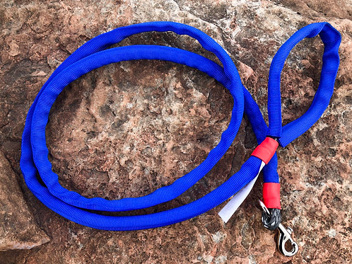 """5/16"""" Winch Line Doggie Leash w/ Blue Protective Cover & Swivel Snap"""