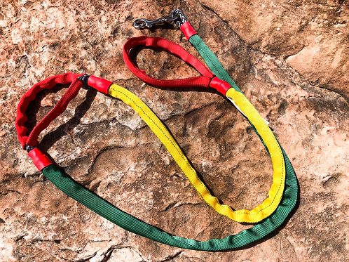 "5/16"" RASTA Winch Line Doggie Leash w/Mid Handle, Protective Cover & Swivel Snap"