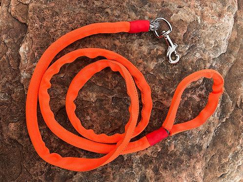 "5/16"" Winch Line Doggie Leash w/ Orange Protective Cover & Swivel Snap"