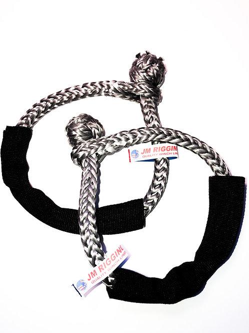 "5/16"" Grey Soft Shackle Pure Dyneema SK78 w/ Black Protective Sleeve"