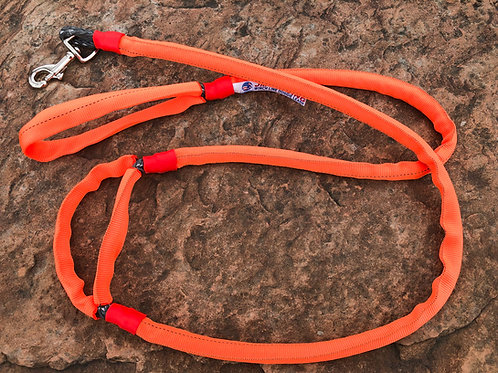 "5/16"" Winch Line Doggie Leash w/Mid Handle,Orange Protective Cover & Swivel Snap"