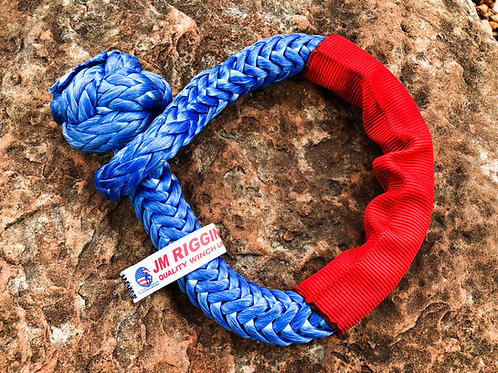 "1/2"" Blue Soft Shackle Pure Dyneema SK78 w/ Red Protective Sleeve"