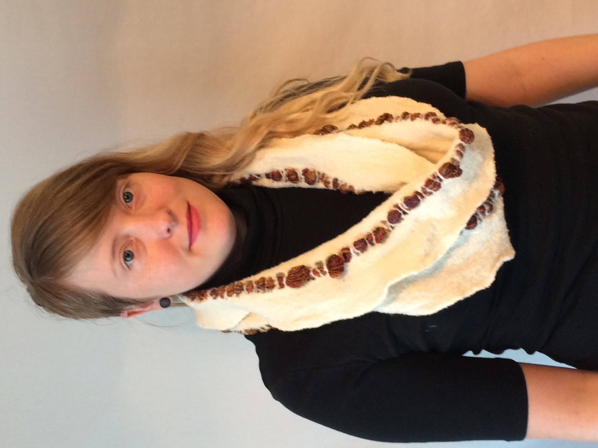 White and Gold Scarf