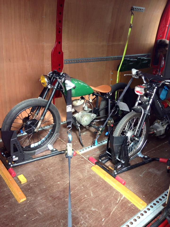 Classic Motorbikes Secured Safely