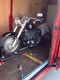 Classic motorbike transport