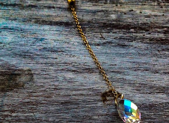 Gold Filled 14K Necklace SWAROVSKI CRYSTAL