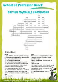 Mammals crossword screenshot.png