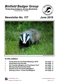 Binfield badgers quarterly newsletter