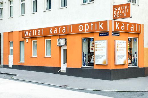 Walter Karall Optik Geschäftsansicht von Leebgasse Ecke Troststraße