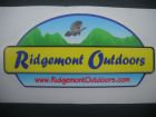 "Ridgemont Vinyl Logo Sticker 4""x6"""