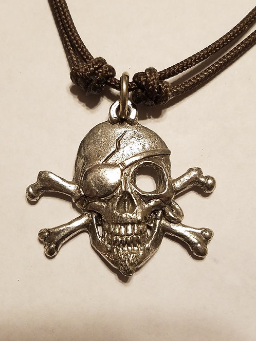 Pirate Skull & Cross Bones Necklace K-801