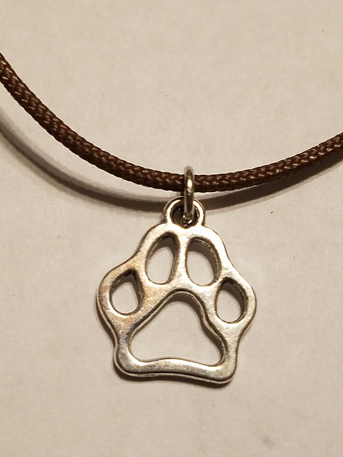 Dog / Penn State Nittany Lion Paw Print Necklace