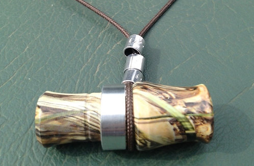 "2.5"" Camo Duck Call Necklace -Duck Commander Style"