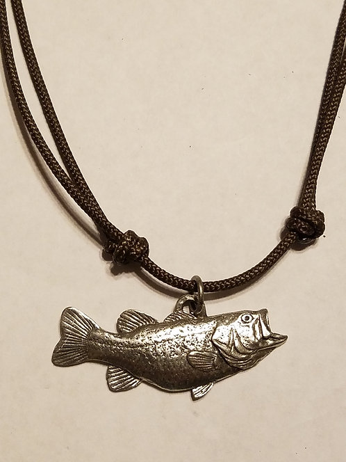 Arched Largemouth Bass Necklace #142