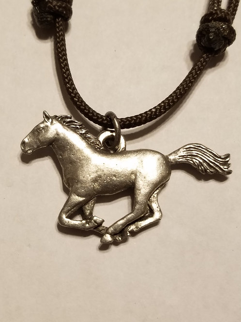 Ford Mustang Galloping Horse Necklace