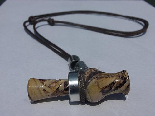 """2"""" Acrylic Camo Duck Call Necklace Mallardtone"""