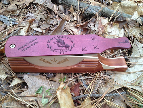 Custom Halfmoon boxcall - Cedar/Poplar/Purpleheart