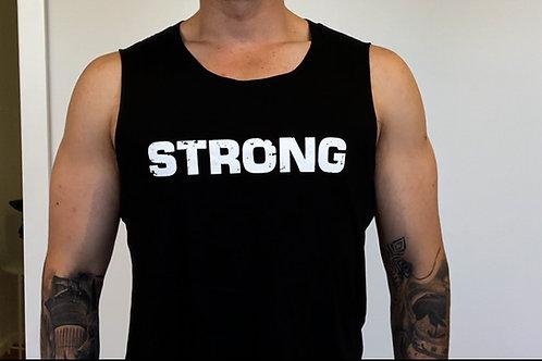 "SG ""STRONG"" Singlet - Black"