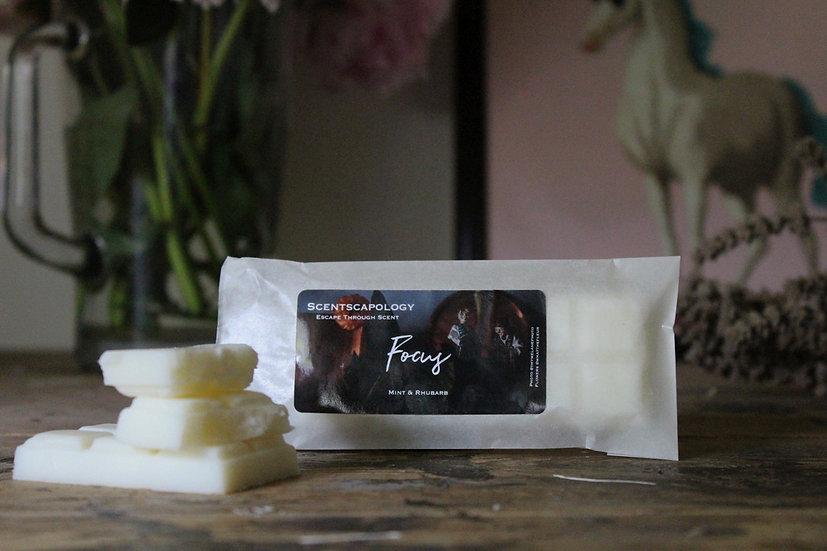 Focus (Mint  & Rhubarb) Wax Melt Snap Bar 50ml