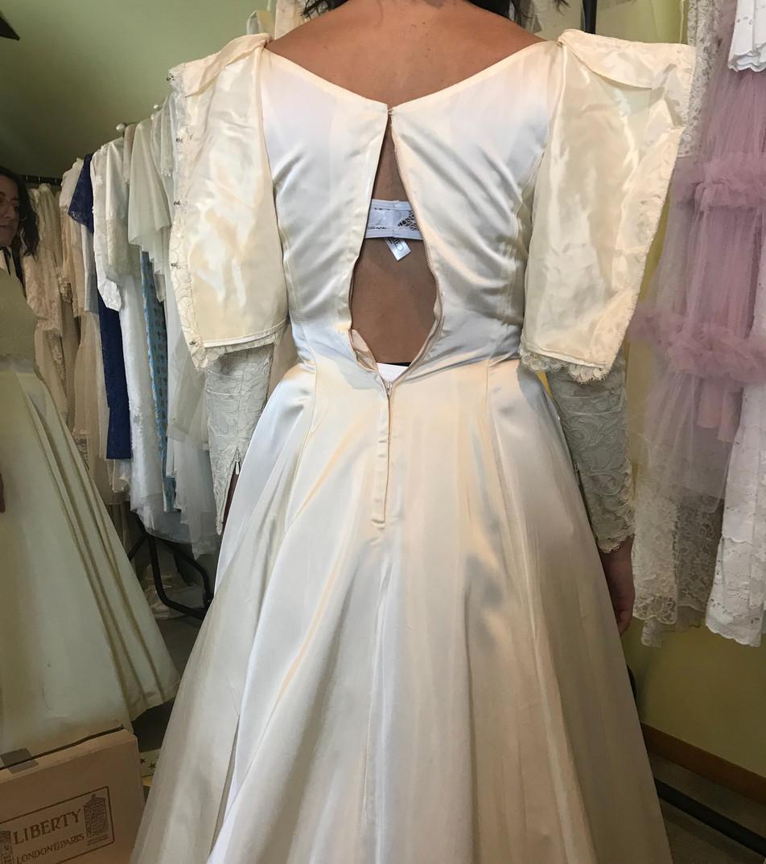Danielle's Vintage Wedding Dress Before.