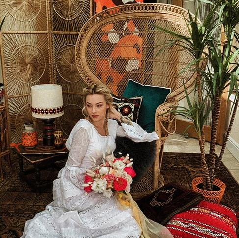 Bohemian Princess: A Lockdown FaceTime shoot.