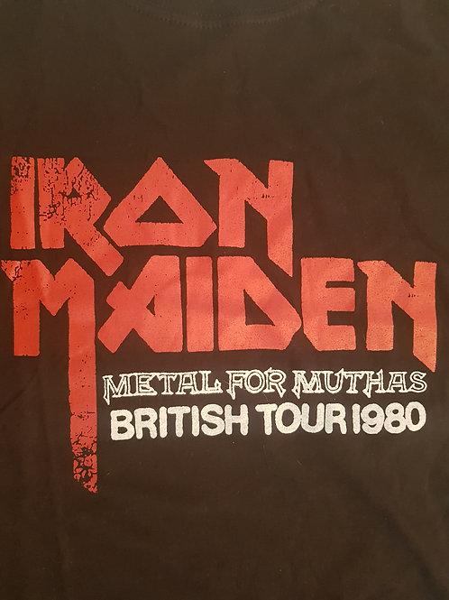 IRON MAIDEN - British Tour 1980 -T shirt Sizes M
