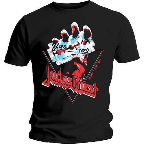 JUDAS PRIEST - British Steel Triangle - T shirt