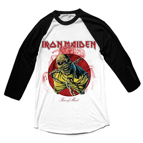 IRON MAIDEN - Piece Of Mind RAGLAN - Official T shirt