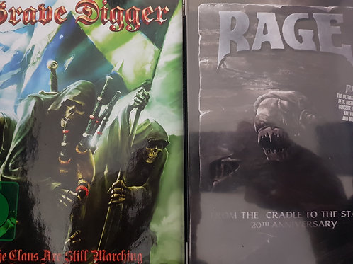 COMBO 2 DVD - GRAVE DIGGER+RAGE