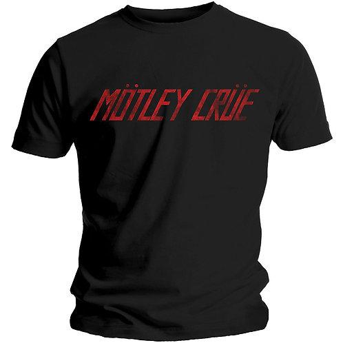 MOTLEY CRUE - Red Logo - Official T shirt