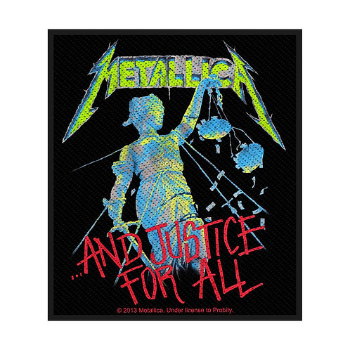 METALLICA - AND JUSTICE FOR ALL - OFFICIEL WOVEN PATCH