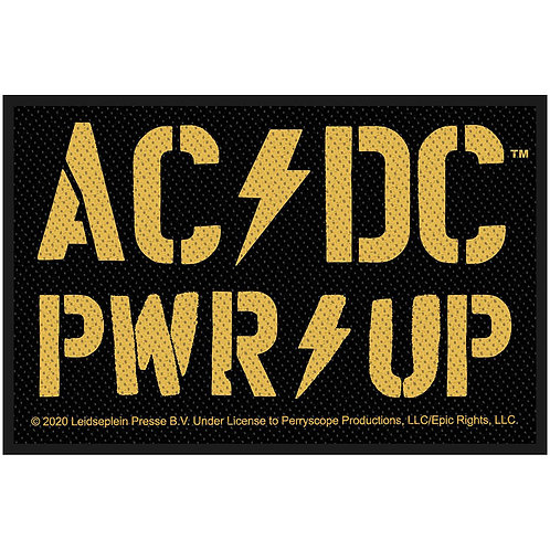 AC/DC - YELLOW PWR UP  - OFFICIEL WOVEN PATCH
