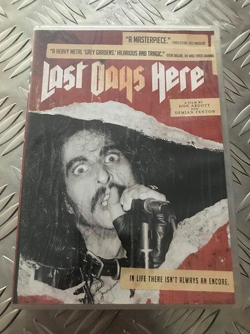 DVD - LAST DAYS HERE