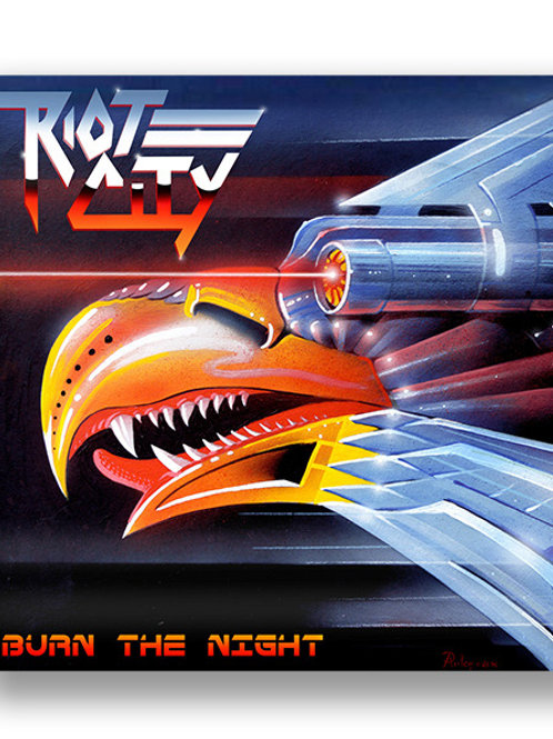 RIOT CITY - Burn The Night - SILVER LP