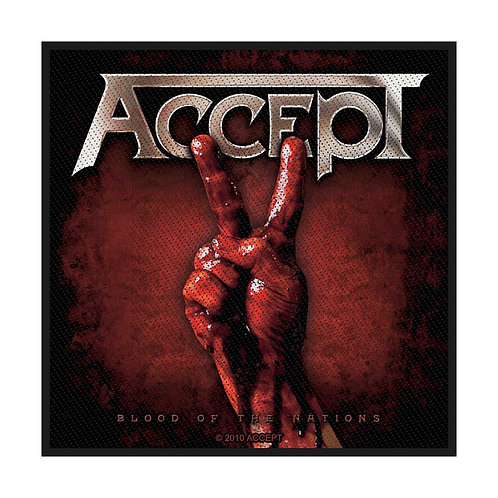 ACCEPT - BLOOD OF THE NATIONS - OFFICIEL WOVEN PATCH