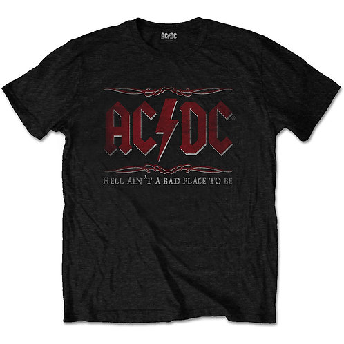 AC DC - Hell Ain't Bad Place To Be - Official T shirt
