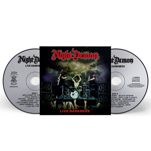 NIGHT DEMON - Live Darkness - DIGIPACK 2CD