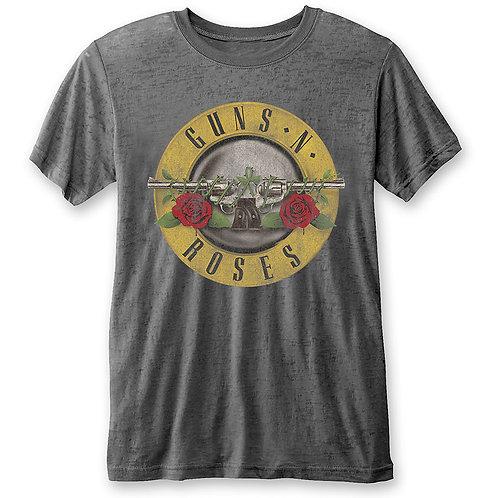 GUNS N' ROSES - Classic Logo  - Grey Shirt