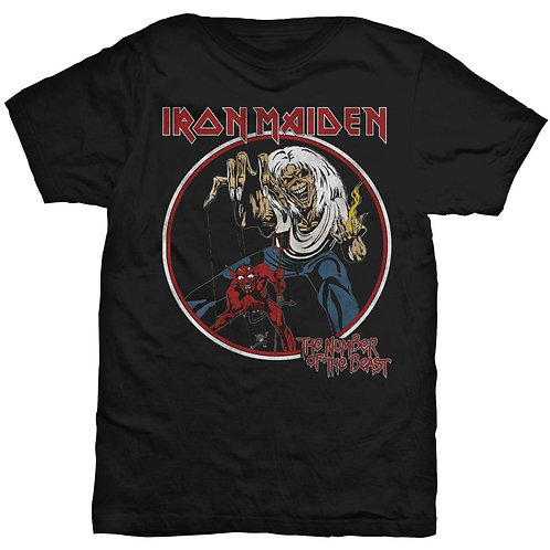 IRON MAIDEN - The Number Of The Beast - Official T shirt