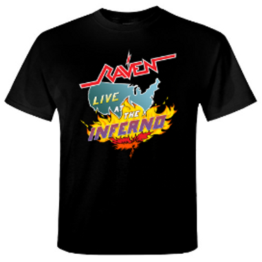 RAVEN - Live At The Inferno - Official T shirt