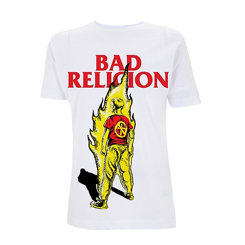 BAD RELIGION - BOY ON FIRE WHITE