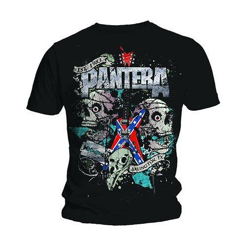 PANTERA - Texas Skull - Official T shirt