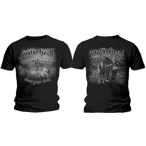 MOTORHEAD - Clean Your Clock/Black and Withe - T shirt
