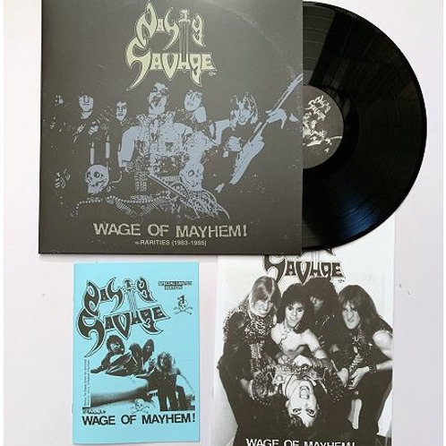 NASTY SAVAGE - Wage of Mayhem + Rarities 83/85 LP