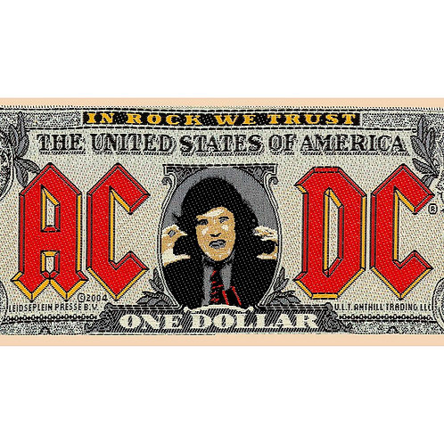 AC/DC - ONE DOLLAR - OFFICIEL WOVEN PATCH