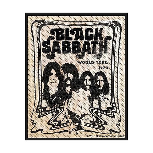 BLACK SABBATH - WORLD TOUR 78 - OFFICIEL WOVEN PATCH