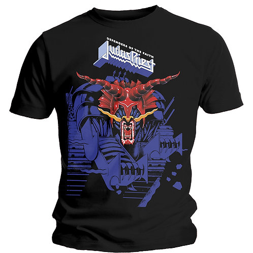 JUDAS PRIEST - Defender Blue - T shirt
